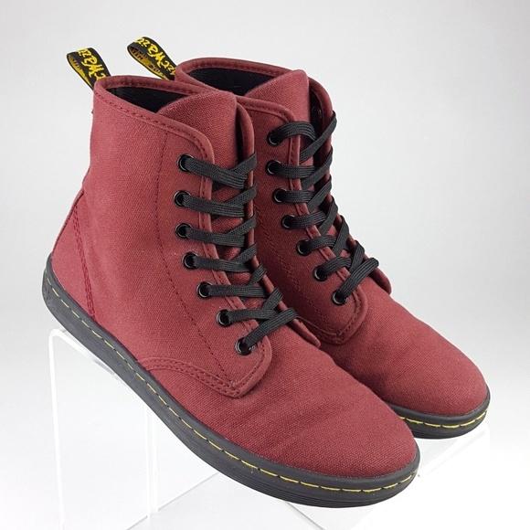 12d410441778 Dr. Martens Shoes - Dr. Martens Women s Shoreditch Ankle Bootie Red